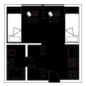 Residencia universitaria lesseps habitaciones y precios for Cuarto universitario