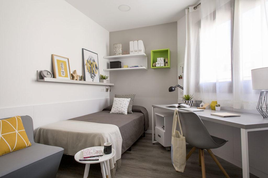 Residencia universitaria diagonal habitaciones y precios for Habitacion barcelona