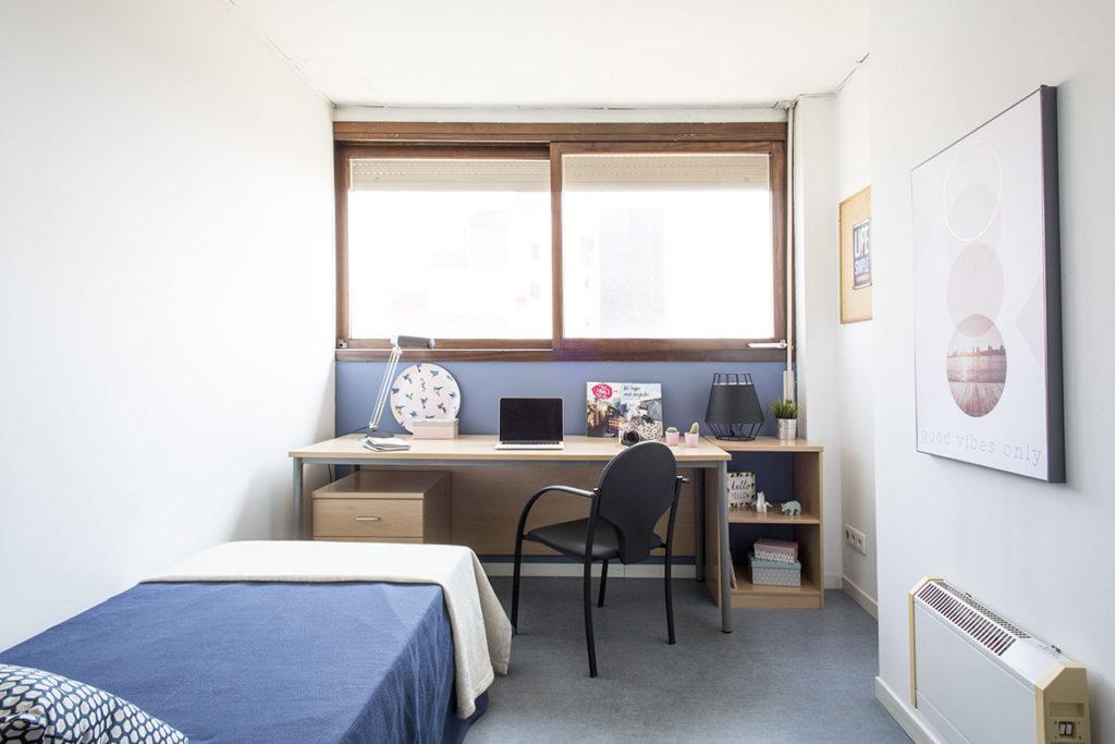 Residencia universitaria lesseps habitaciones y precios for Decorar habitacion de estudiantes