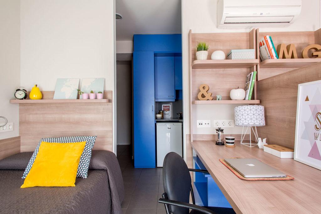 habitación doble residencia valencia