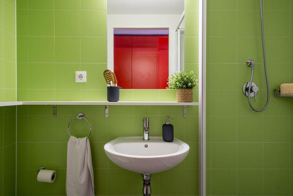habitación individual baño resa