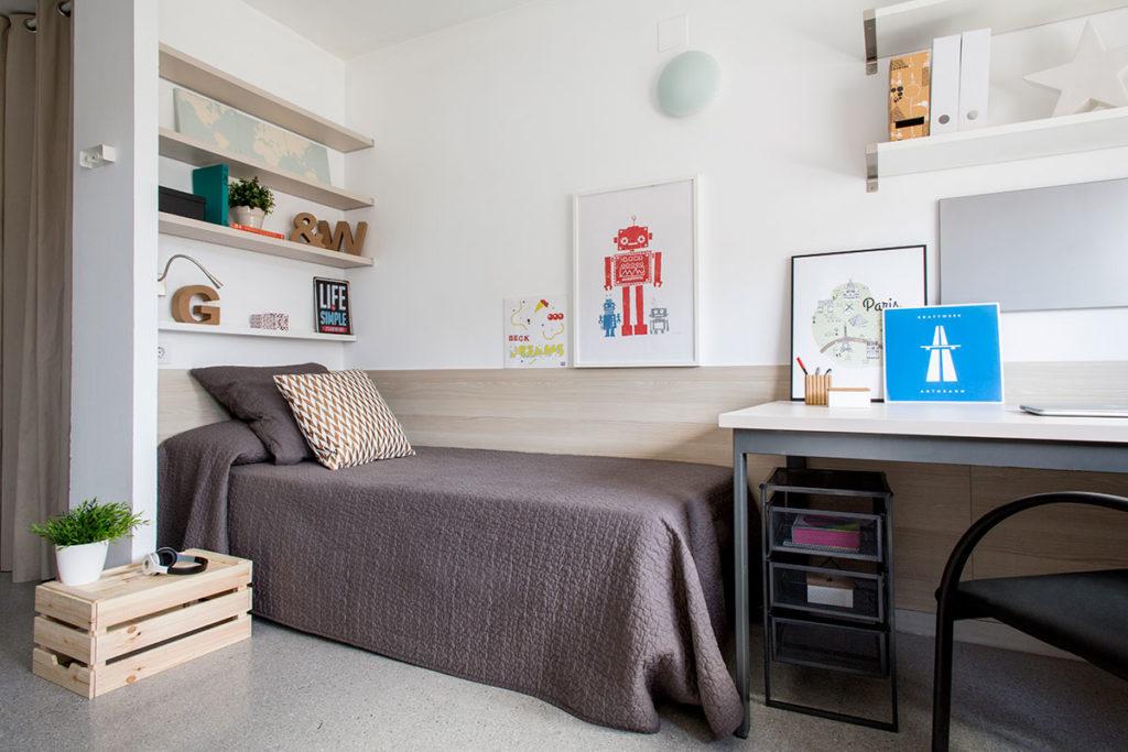 Residencia universitaria pere felip monlau habitaciones y for Habitacion barcelona