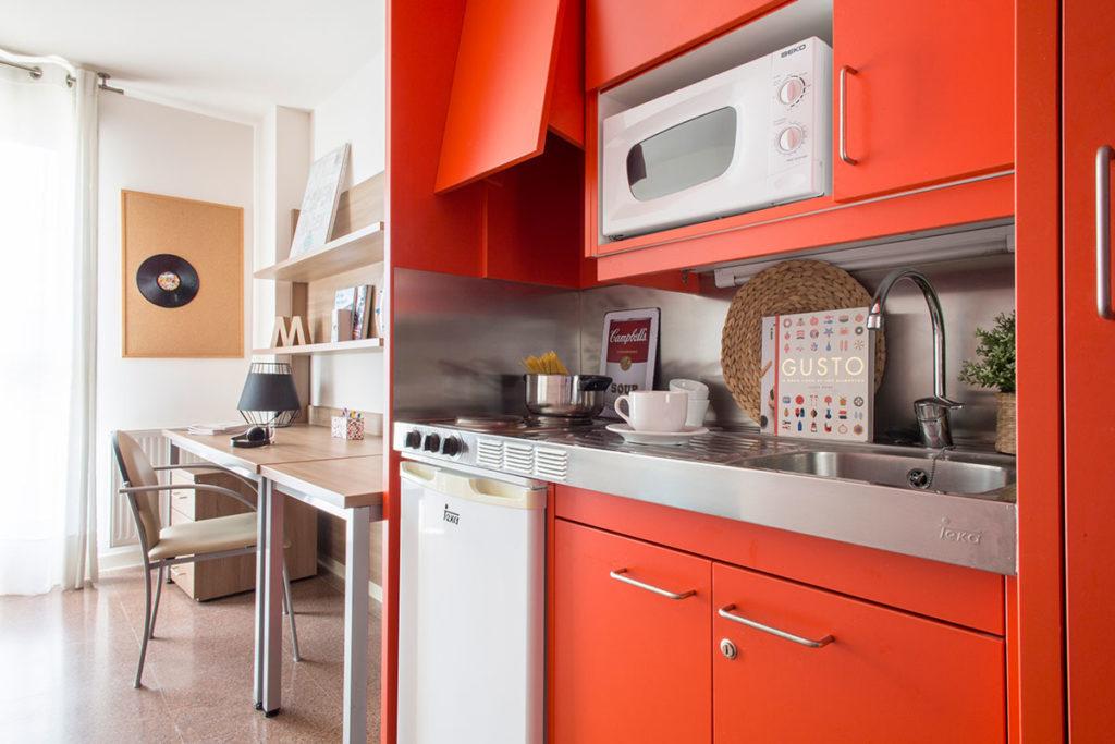 habitación resa individual cocina