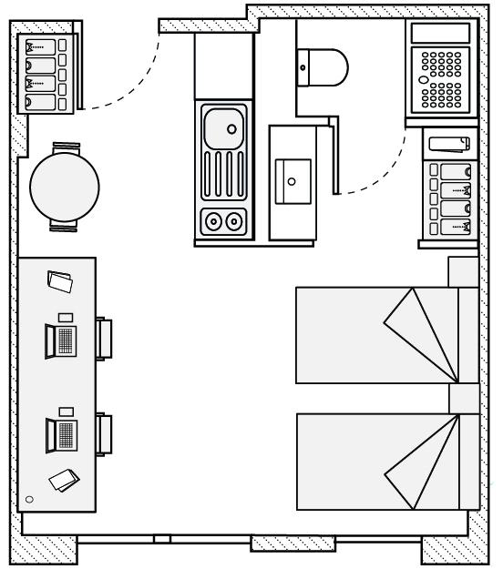 plano habitacion resa tarragona mediterrani
