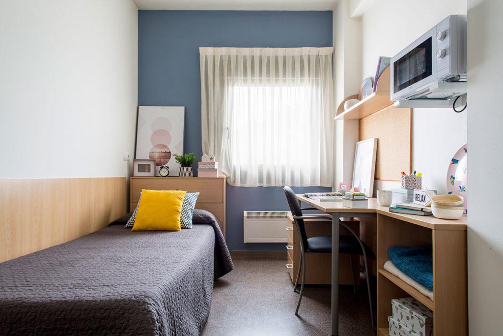 foto habitación individual residencia as burgas