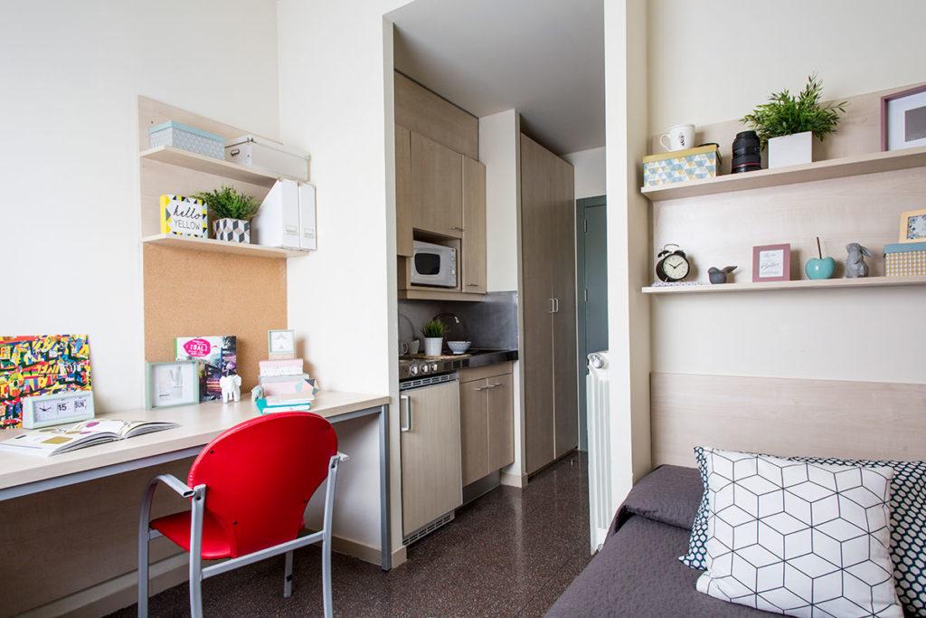 foto habitación individual residencia los abedules
