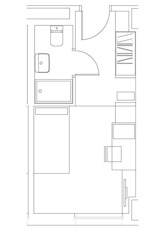 Habitación individual Resa Paseo de la Habana en Madrid